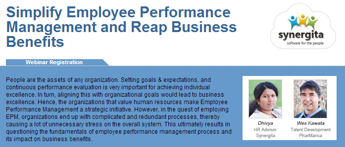 Webinar on Simplify Employee Performance and Reap Business Benefits