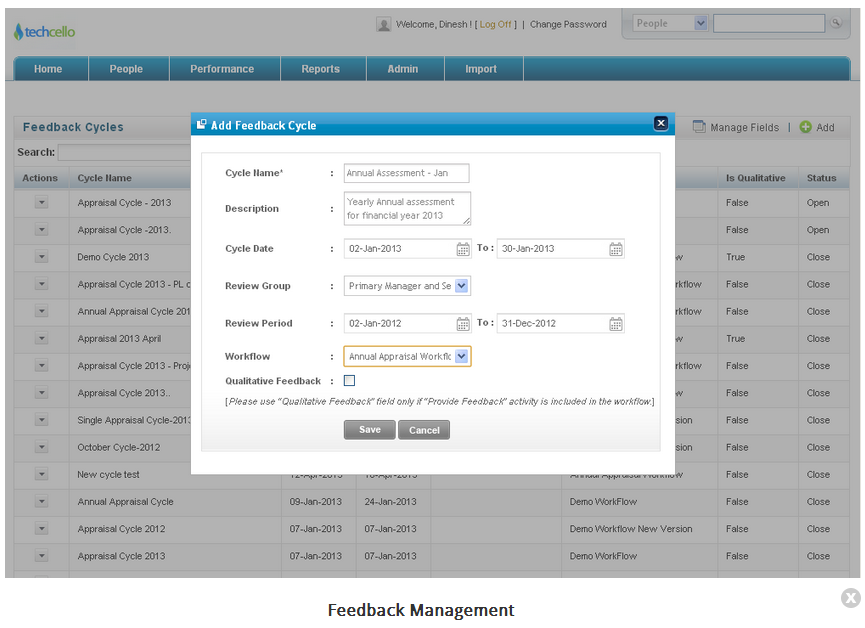 360 degree feedback and review plan